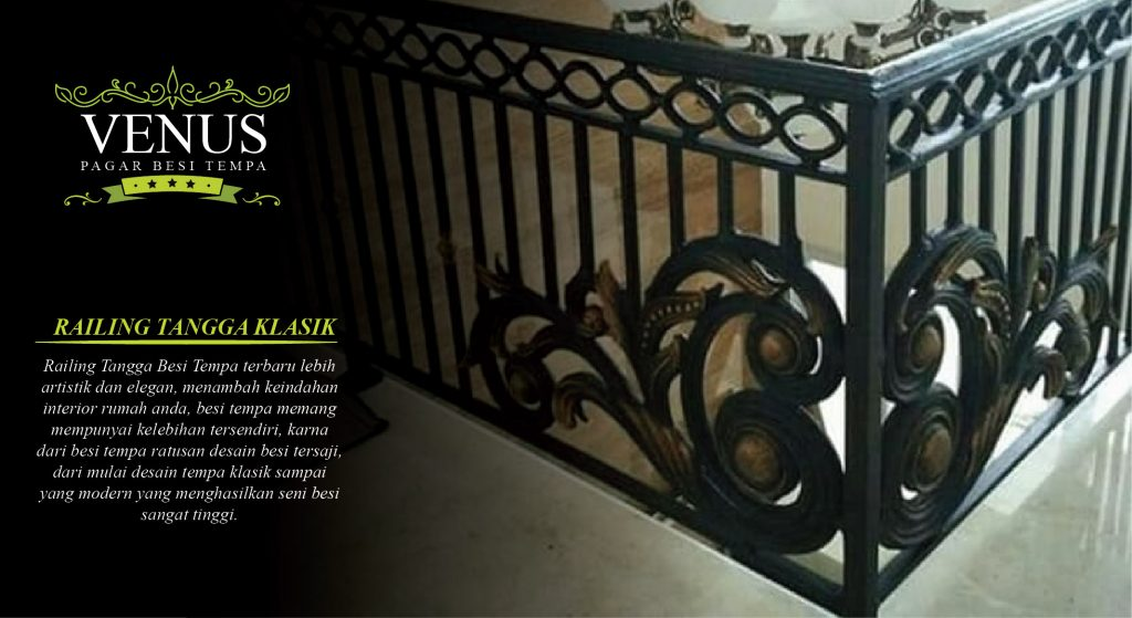 Railing Balkon Minimalis Pagar Besi Tempa Klasik
