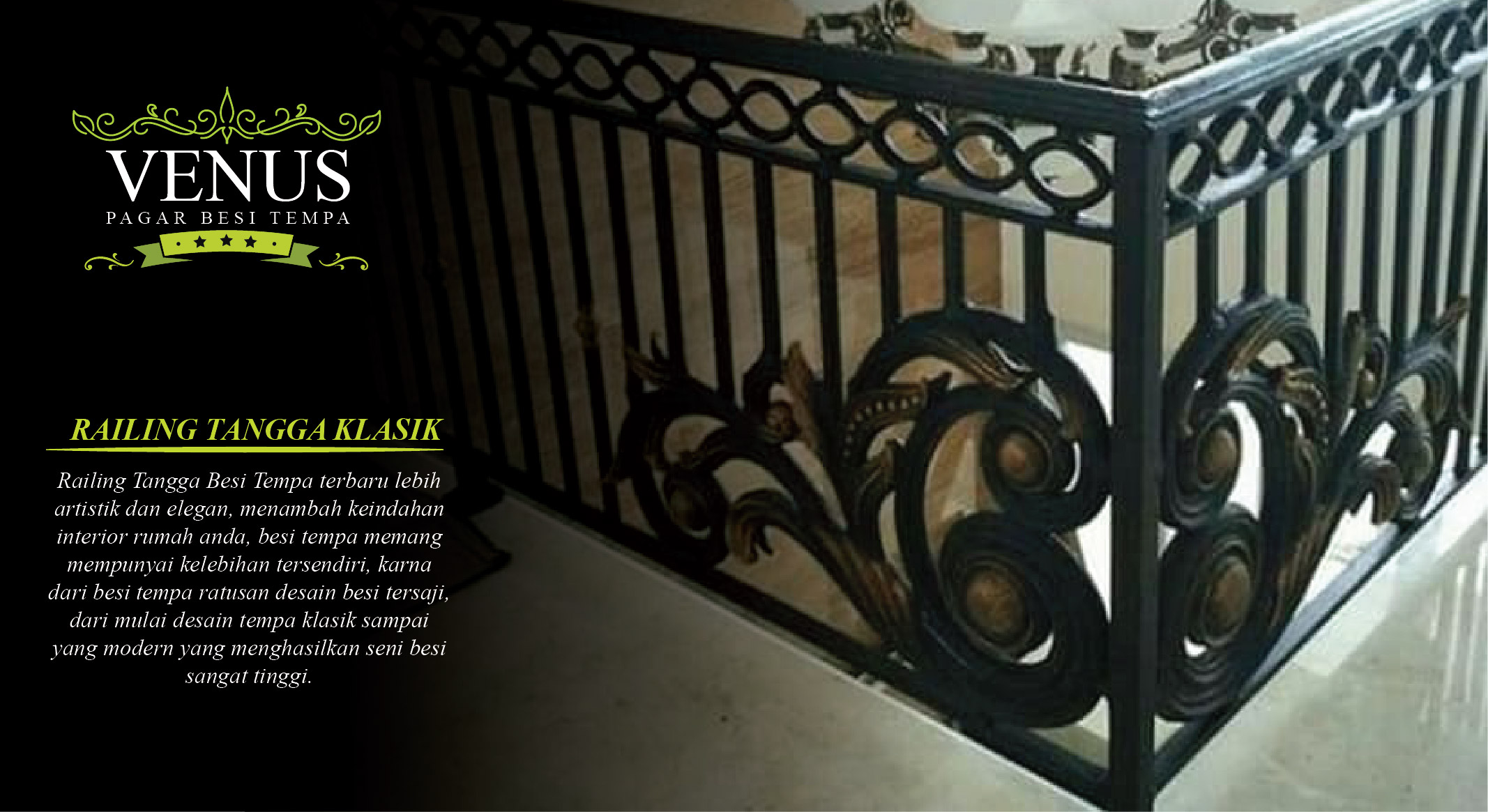 Railing Balkon Minimalis Pagar Besi Tempa Klasik Minimalis